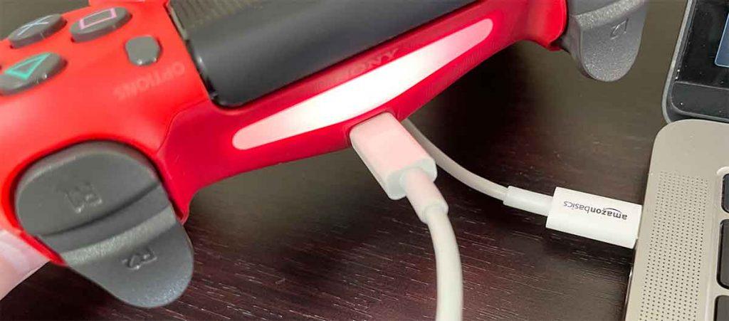 手順②:「DUALSYOCK4」とMacを繋げる