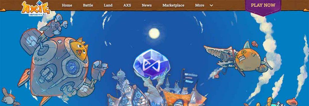 起動手順①:Axie Infinityの公式サイトにアクセス