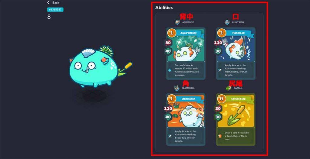 【例】BodyPartsによるカードの変化